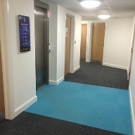 Heckmondwike Array carpets at Riverside apartments