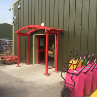 Autopa Bespoke Entrance Canopy at Huws Gray