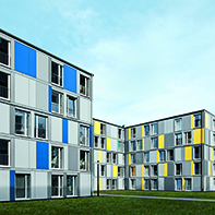 Schueco windows systems at Student halls of residence in Heidelberg