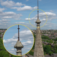 Aerial drone survey reveals missing stonework