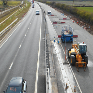 ACO combined kerb drainage system for widening of A453