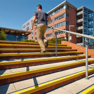 Gradus TEX stair edgings at Mid Kent College