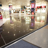 Gradus' Cityscene carpet tiles at Jersey Airport