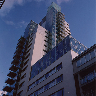 Element façade for Tabard Square, London