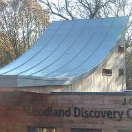 Ski slope style roof for Discovery Centre