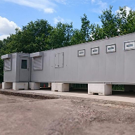 AV Danzer modular building for recycling depot
