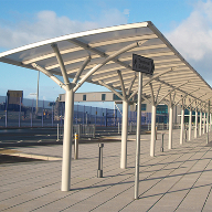 Bespoke waiting canopy for Loch Ryan Ferry Port