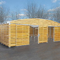 Bespoke cycle shelter for Kingswell Business Park