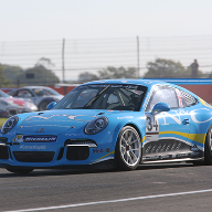 Cole races at Silverstone in N&C Carrera Cup GB race car