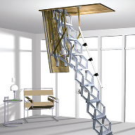 New Supreme loft ladder with electrical operation