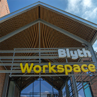 Wood grill ceiling adds design to Blyth Workspace
