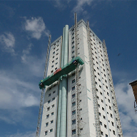 Monodex Smooth waterproofs Cwmbran's tallest building