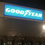 LED illuminated signage for Goodyear