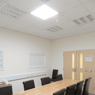 Solarspot tubular daylighting system for meeting room