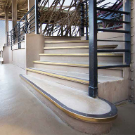 Bronze stair edgings from Gradus chosen for Eiffel Tower