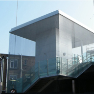 Architectural mesh for Deptford Railway Station