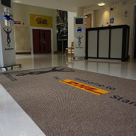 Entrance matting for the home of the Harlequin