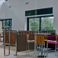 Frameless glass partitioning for Aberystwyth University