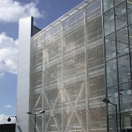 Architectural mesh for car park