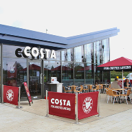 Comar curtain walling for Costa Coffee