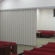 Church chooses electrically operated partition