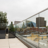 Frameless glass system for 73 Great Peter Street