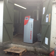 Wood pellet boiler for Stockland Village Hall