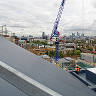 Single ply roofing membranes at Park Plaza Riverbank