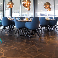 Limestone floors for Craft Restaurant