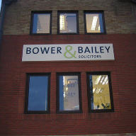New signage for Bower & Bailey Solicitors