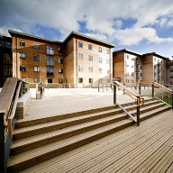 Anti-slip timber decking for Oxford Brookes University