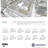 Free limited edition Contour 2016 wall calendar