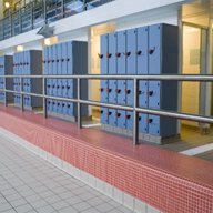Wet area lockers for external and internal use