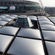 Air-Filled Pillow roof system for Brent Civic Centre