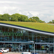 Bauder green roof system for Waitrose store