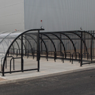 Cycle Shelter and stands for BMW