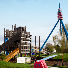 Adventure playground protected with Sadolin