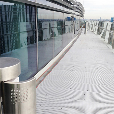 Stainless steel drainage channels for Aldgate Tower
