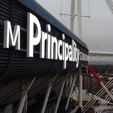 Illuminated signs for Principality Stadium