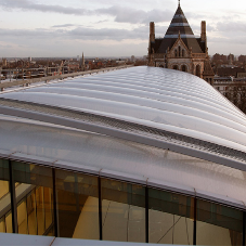 Air-filled pillow roof system for Natural History Museum