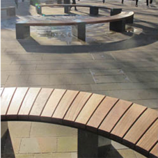 Outdoor seating for regeneration project