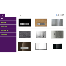 Online Flush plate Showroom makes selection easy