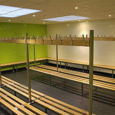 Cloakroom benches for Dereham Neatherd High School