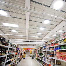 Solarspot® lighting system for Tesco sales area