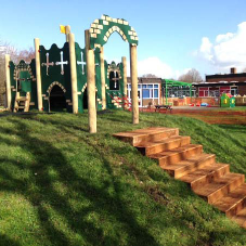 Castle and stage for Downfield School