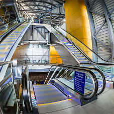 Stannah lift products at new entrance to Leeds Station