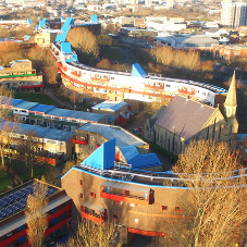 Landmark Byker Wall estate recharged by solar