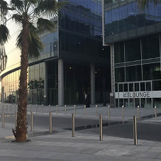 Security bollards for Dubai Design District