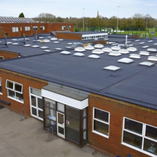Langley flat roofing solution for Cedars Upper School