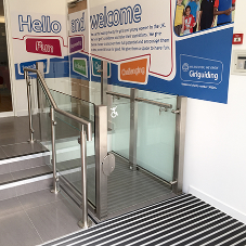 Lyfthaus platform lifts at city centre retailer